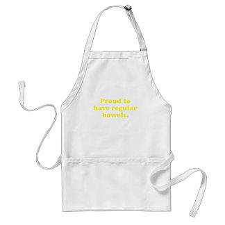 Proud to have regular bowels adult apron