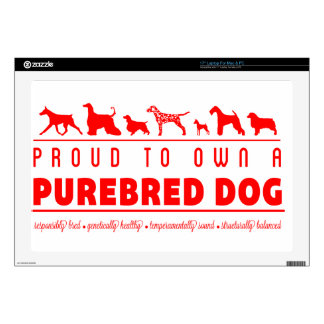 Proud to Own a Purebred Dog: Red Laptop Skin