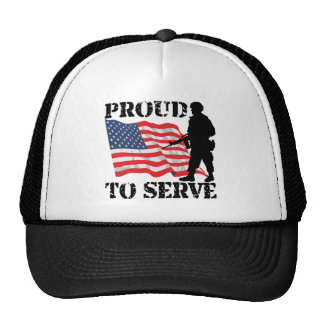 Proud to Serve in the Military Trucker Hat