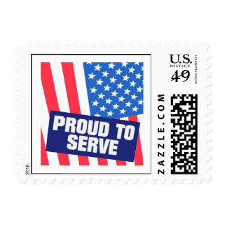 Proud To Serve Stamp