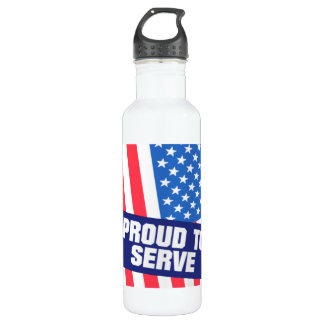 Proud To Serve Water Bottle
