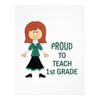 Proud To Teach 1st Grade Letterhead