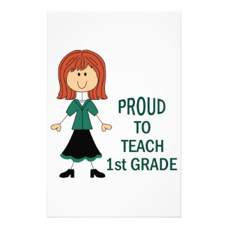 Proud To Teach 1st Grade Stationery