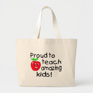 Proud To Teach Amazing Kids (Apple) Tote Bags