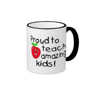 Proud To Teach Amazing Kids (Apple) Ringer Mug