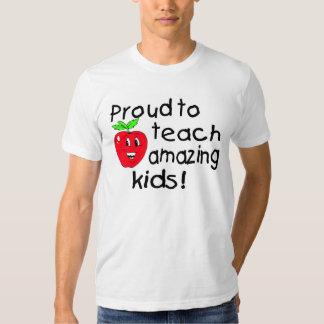 Proud To Teach Amazing Kids (Apple) T-Shirt