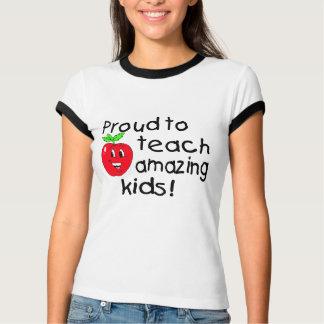 Proud To Teach Amazing Kids (Apple) Tshirts