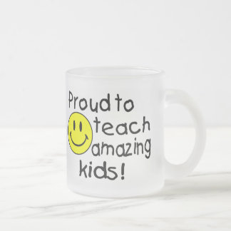 Proud To Teach Amazing Kids Frosted Glass Coffee Mug