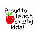 Proud To Teach Amazing Kids Postcard