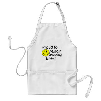 Proud To Teach Amazing Kids (Smiley) Adult Apron