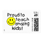 Proud To Teach Amazing Kids (Smiley) Stamp