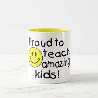 Proud To Teach Amazing Kids! Two-Tone Coffee Mug