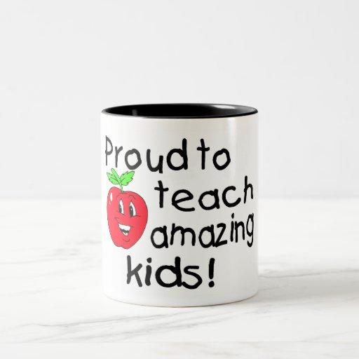 Proud To Teach Amazing Kids Two-Tone Coffee Mug