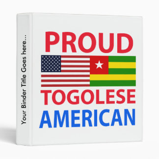 Proud Togolese American Binders