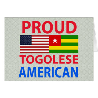 Proud Togolese American Greeting Card