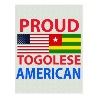 Proud Togolese American Postcard