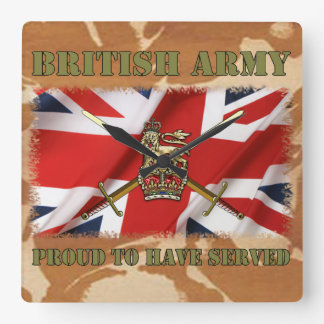 Proud ton have served ...... UK Square Wall Clock