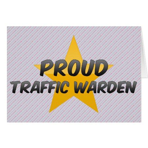 Proud Traffic Warden Greeting Card