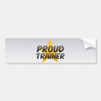 Proud Trainer Car Bumper Sticker