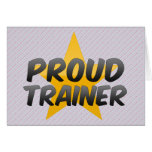 Proud Trainer Greeting Cards