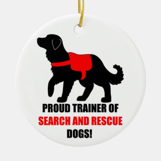 Proud Trainer of Search and Rescue Service Dogs Christmas Tree Ornament