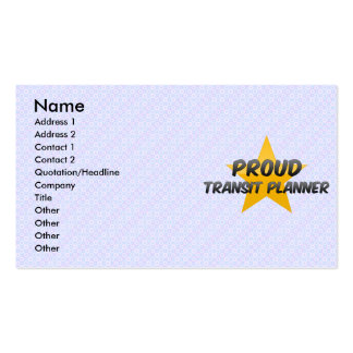 Proud Transit Planner Business Card Template