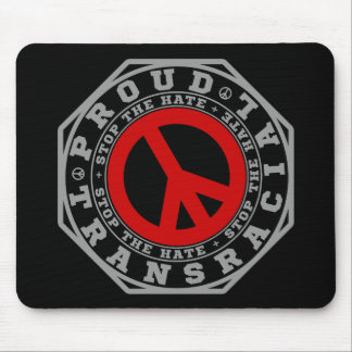 PROUD TRANSRACIAL - Stop The Hate! #WrongSkin, v2 Mouse Pad