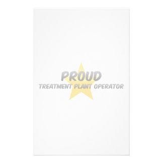 Proud Treatment Plant Operator Custom Stationery