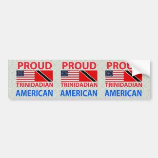 Proud Trinidadian American Bumper Sticker
