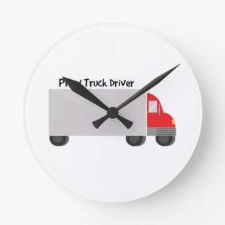Proud Truck Driver Round Clock