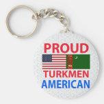 Proud Turk American Keychains