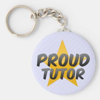 Proud Tutor Basic Round Button Keychain