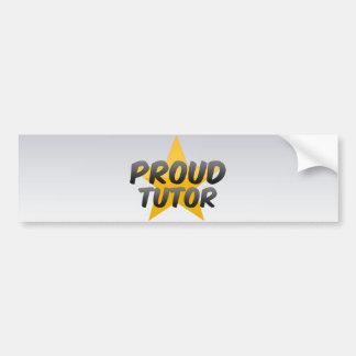 Proud Tutor Bumper Sticker