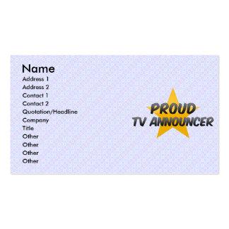 Proud Tv Announcer Business Card