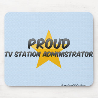 Proud Tv Station Administrator Mousepads