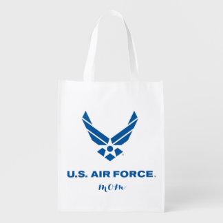 Proud U.S. Air Force Mom Reusable Shopping Bag