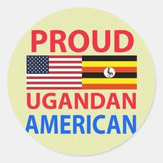 Proud Ugandan American Round Sticker