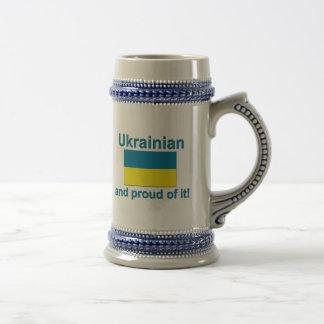 Proud Ukrainian Beer Stein