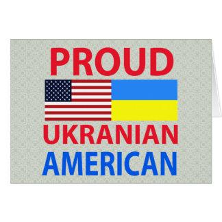 Proud Ukranian American Card