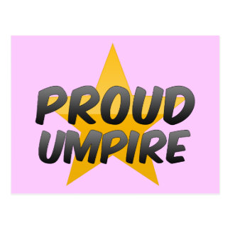 Proud Umpire Postcard