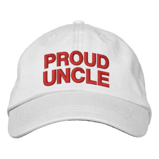 PROUD UNCLE A01 RED Embroidery Cap