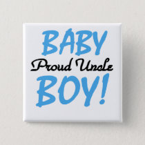 Proud Uncle Baby Boy T-shirts and Gifts Button