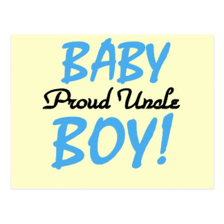 Proud Uncle Baby Boy T-shirts and Gifts Postcard