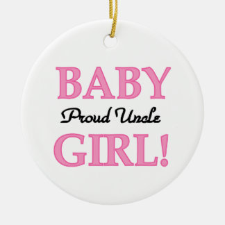 Proud Uncle Baby Girl Gifts Christmas Ornament