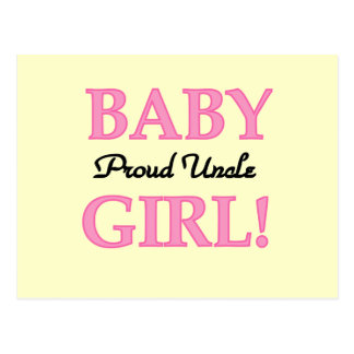 Proud Uncle Baby Girl Tshirts and Gifts Postcard