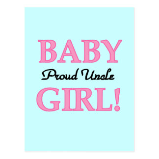 Proud Uncle Baby Girl Tshirts and Gifts Postcards