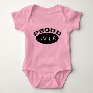 Proud Uncle (Black) Baby Bodysuit