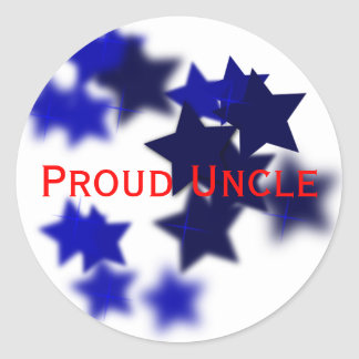 Proud Uncle Classic Round Sticker