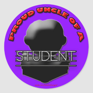 Proud Uncle of a Student stickers