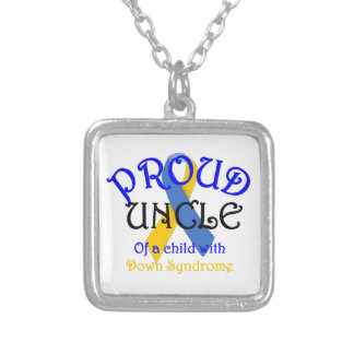Proud Uncle of Down Syndrome Square Pendant Necklace